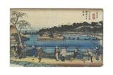 Spring View of Benzai-Ten Shrine at the Shinobazu Pond in Edo, C. 1830-1844 Giclee Print by Keisai Eisen