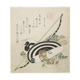 Pulling a Bow, C. 1815 Giclee Print by Kubo Shunman