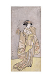 A Full-Length Portrait of the Actor Ichikawa Monnosuke II in a Female Role Holding an Incense Burne Giclee Print by Katsukawa Shunsho
