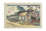 No.6: Kamo Shrine Near Ageo Station, 1830-1844 Giclee Print by Keisai Eisen