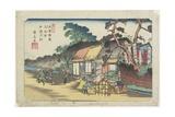 No.6: Kamo Shrine Near Ageo Station, 1830-1844 Giclee Print by Keisai Eisen