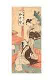Kasamori Osen to Kyaku Giclee Print by Katsukawa Shunsho