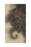 Thunder God, Edo Period, 1847 Giclée-Druck von Katsushika Hokusai