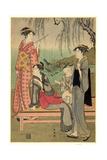 Yanagi No Niwa Giclee Print by Katsukawa Shuncho