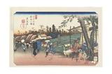 No.2: Itabashi Station, 1835-1836 Giclee Print by Keisai Eisen