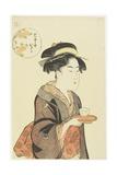 Waitress Okita of Naniwaya Teahouse, 1792-1793 Giclee Print by Katsukawa Shuncho