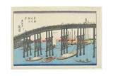 View of Eitai Bridge at the Eastern Capital Giclee Print by Keisai Eisen