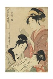 Hour of the Ram, Young Girls, 1798-1799 Giclee Print by Kitagawa Utamaro