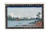 Rokugo Ferry Giclee Print by Keisai Eisen