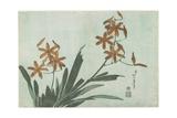Blackberry Lilies, C. 1832 Giclée-Druck von Katsushika Hokusai