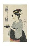 Naniwaya Teahouse Waitress Okita, C. 1793 Giclee Print by Kitagawa Utamaro
