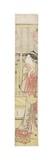 Courtesan Hanao Gi Cooling Herself, C. 1788 Giclee Print by Katsukawa Shuncho