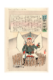General Kuropatkin in a Safe Place Giclee Print by Kobayashi Kiyochika