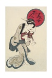 Woman Holding a Baby Giclee Print by Keisai Eisen