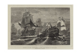 Sinking of the Redoutable after the Battle of Trafalgar Giclee Print by Konstantinos Bolanachi