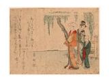 Yanagi No Sita No Bijin Giclee Print by Kubo Shunman