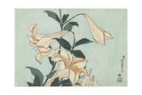 Lilies, C. 1832 Giclee Print by Katsushika Hokusai