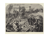 Nero Amongst the Ruins of Rome Giclee Print by Karl Theodor von Piloty