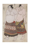 Full-Length Portraits of Wrestlers from the Eastern Group Giclee Print by Katsukawa Shunsho