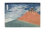 Fine Wind, Clear Weather, 1831-1834 Giclee Print by Katsushika Hokusai