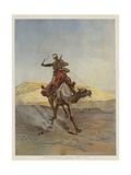 A Despatch-Bearer Egyptian Camel Corps Giclee Print by Lady Butler