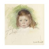 Portrait of Ellen Mary Cassatt (Pastel on Paper Mounted on Paperboard. 36.2 X 35.9Cm.) Reproduction procédé giclée par Mary Cassatt