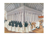 Procession of the Holy Sacrament in the Cloister, from 'L'Abbaye De Port-Royal', C.1710 Giclee Print by Louise Madelaine Cochin