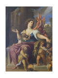 Charity Giclee Print by Lodovico Carracci