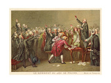 The Tennis Court Oath, French Revolution, 20 June 1789 Giclee Print by Louis Charles Auguste Couder