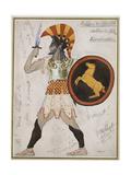 Design for Pollux's Costume in 'Hélène De Sparte' Giclee Print by Leon Bakst