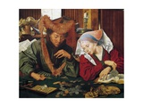 Moneychanger and His Wife 1539 Giclee Print by Marinus Van Reymerswaele