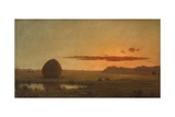 Sunset, Newburyport Meadows, 1863 Giclee Print by Martin Johnson Heade