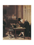Interior of Cafe from around 1815 Giclee Print by Louis-Leopold Boilly