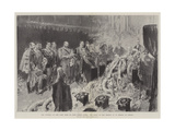 The Funeral of the Late Duke of Saxe-Coburg-Gotha, the Scene in the Church of St Moritz at Coburg Giclee Print by Maynard Brown