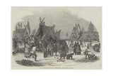 Frost Fair on the Thames, in 1814 Giclee Print by Luke Clennell
