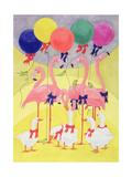 Balloons Giclee Print by Linda Benton