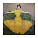 Lady in Yellow, 1889 Giclee Print by Maximilian O Max Kurzweil