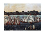 English Squadron Visiting Guanabara Bay Giclee Print by Leandro Joaquim