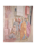St. Peter Healing the Sick with His Shadow Giclee Print by Masolino And Filippino Lippi Masaccio