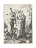 Adam and Eve after their Expulsion from Paradise, 1510 Giclee Print by Lucas van Leyden