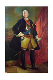 Frederick Augustus II (1696-1763) Elector of Saxony Giclee Print by Louis de Silvestre