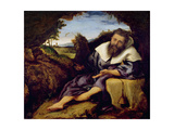 The Temptation of St. Anthony Giclee Print by Lorenzo Lotto
