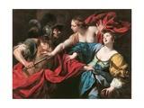 Venus Preventing Her Son Aeneas from Killing Helen of Troy, C.1650 Giclee Print by Luca Ferrari