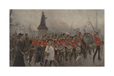 Off to the Front - Yorkshire Regiment, 1899 Giclee Print by Maurice Henri Orange