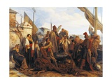 Fishermen Departing on the Adriatic, 1834 Giclee Print by Louis Leopold Robert