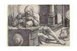 Saint Jerome in His Study, 1521 Giclee Print by Lucas van Leyden