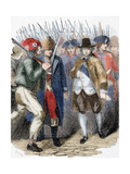 Return of Louis XVI to Paris after His Arrest at Varennes after His Escape Attempt. June 25, 1791 Giclee Print by Louis Dupre