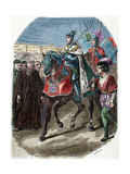 Louis XII (1462-1515) King of France Entering the City of Genoa., 1851. Coloured Giclee Print by Louis Dupre