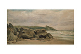 View Towards Rame Head, Cornwall, 19th Century Giclee Print by Lionel Constable