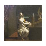 St Cecilia, C.1607 Giclee Print by Lodovico Carracci